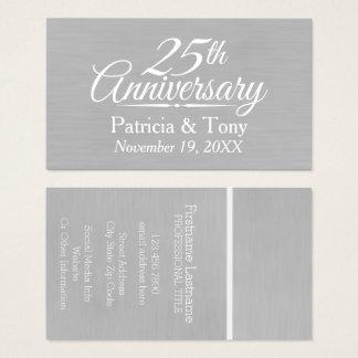 25to Aniversario de boda personalizado Tarjeta De Visita