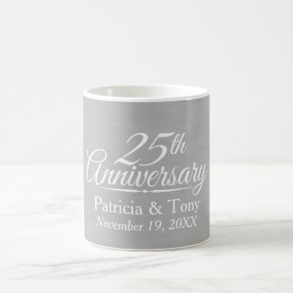 25to Aniversario de boda personalizado Taza De Café