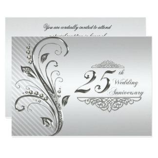 25to Aniversario de boda RSVP Invitación 8,9 X 12,7 Cm