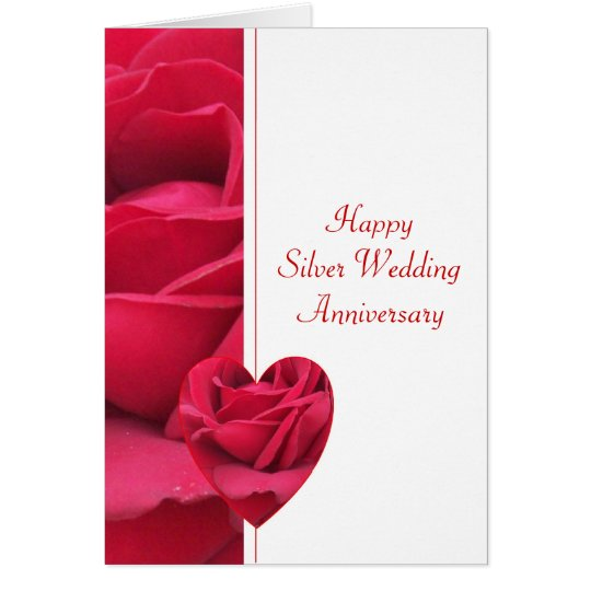 25to Aniversario de boda Tarjeta De Felicitación