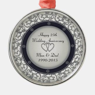 25to Aniversario de bodas de plata Adornos De Navidad