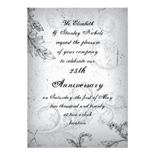 25to aniversario de bodas de plata de la voluta gr comunicado personalizado