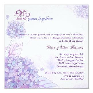 25to aniversario de bodas de plata de los invitación 13,3 cm x 13,3cm