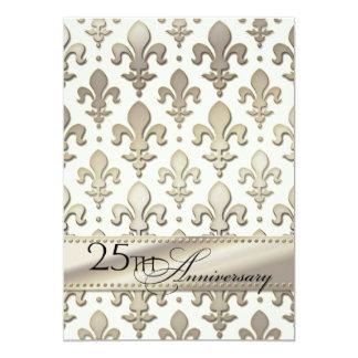 25to, aniversario de bodas de plata, flor de lis comunicados personales