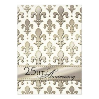 25to aniversario de bodas de plata flor de lis comunicados personales
