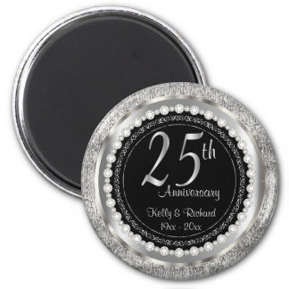 25to Aniversario de bodas de plata Imanes