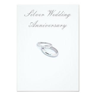 25to Aniversario de bodas de plata Invitación 12,7 X 17,8 Cm