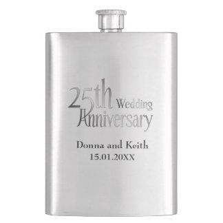 25to Aniversario de bodas de plata Petaca