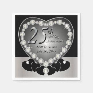 25to Aniversario de bodas de plata Servilletas De Papel