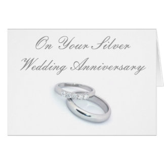 25to Aniversario de bodas de plata Tarjeta De Felicitación