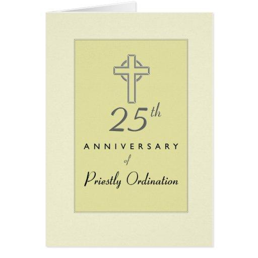 25to Aniversario de la ordenación del sacerdote, c Tarjetas