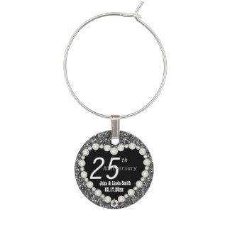 25to Aniversario de plata que casa el nombre y la Identificadores De Copas
