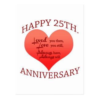 25to aniversario feliz postal