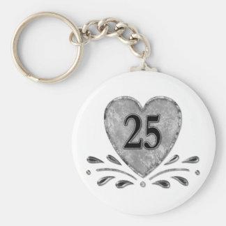 25to aniversario - plata llavero redondo tipo chapa