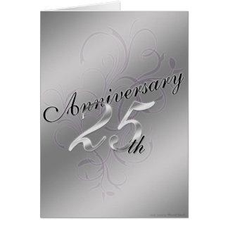 25to Aniversario (tarjeta del aniversario) Tarjeta De Felicitación