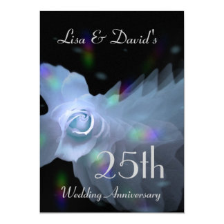 25to Azul de plata de la invitación del