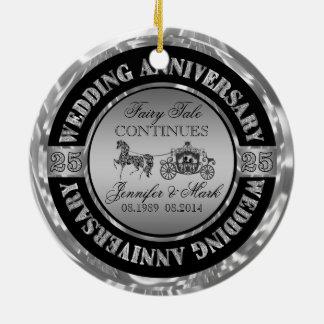 25to Caballo y carro del Aniversario-Boda del boda Adornos