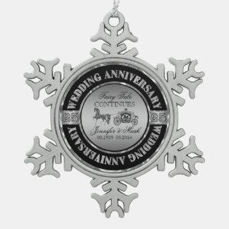 25to Caballo y carro del Aniversario-Boda del boda Adorno