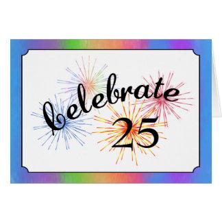 25to Celebración del aniversario Tarjeta De Felicitación