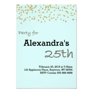 25to Cumpleaños personalizado en colores en Invitación 12,7 X 17,8 Cm