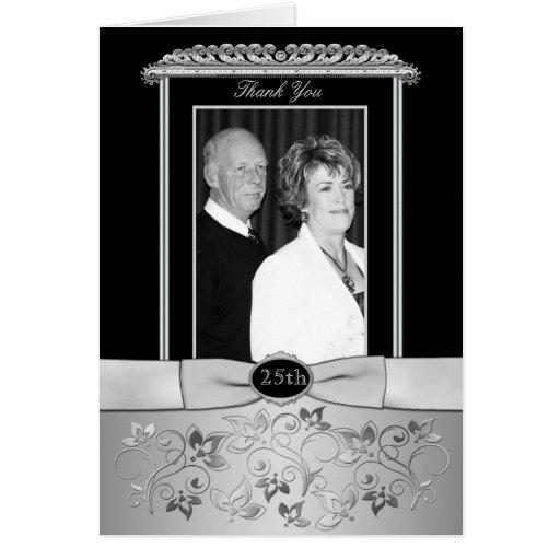 25to El aniversario de boda le agradece cardar con Tarjetón