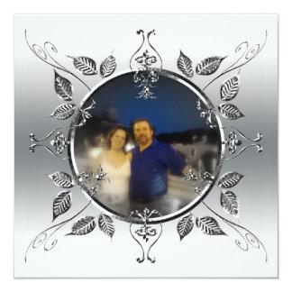 25to El aniversario de bodas de plata añade la Invitación 13,3 Cm X 13,3cm