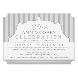 25to El aniversario invita a la celebración gris Anuncios