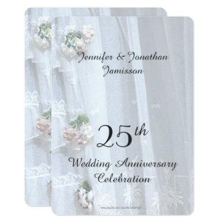 25to Fiesta de aniversario del boda, cordón del Invitación 12,7 X 17,8 Cm