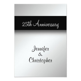 25to Invitación de la fiesta de aniversario