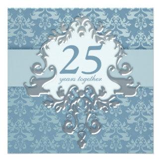 25to Invitación de la fiesta de aniversario de la