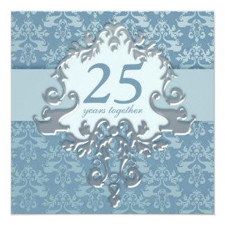 25to Invitación de la fiesta de aniversario de la Invitación 13,3 Cm X 13,3cm
