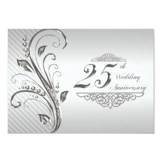 25to Invitación del aniversario de boda
