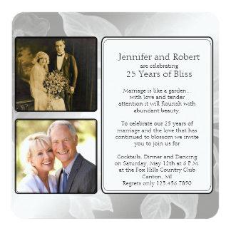 25to Invitación del aniversario de la foto de la