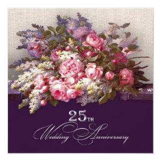25to Invitaciones de la fiesta de aniversario de Invitación 13,3 Cm X 13,3cm