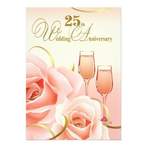 25to Invitaciones de la fiesta de aniversario de l Invitacion Personal