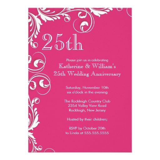 25to Invitaciones de la fiesta de aniversario del  Comunicado Personal