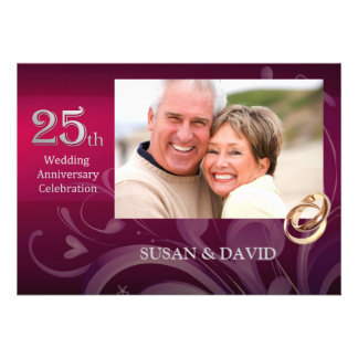 25to Invitaciones de la fiesta de aniversario del
