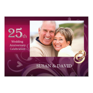 25to Invitaciones de la fiesta de aniversario del Invitación 12,7 X 17,8 Cm