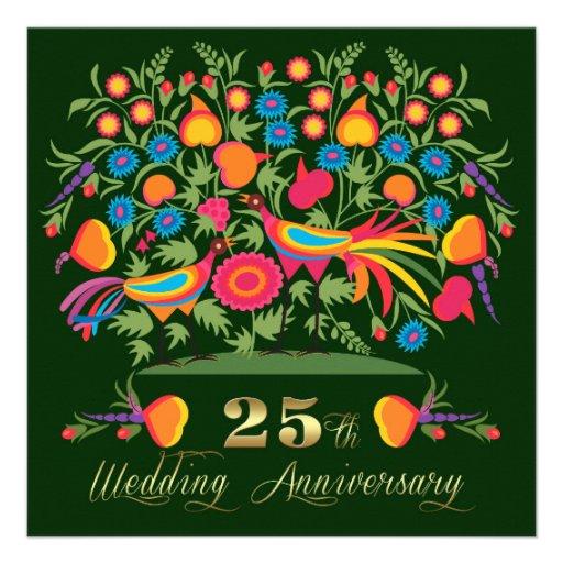 25to Invitaciones de la fiesta de aniversario del  Comunicados Personales
