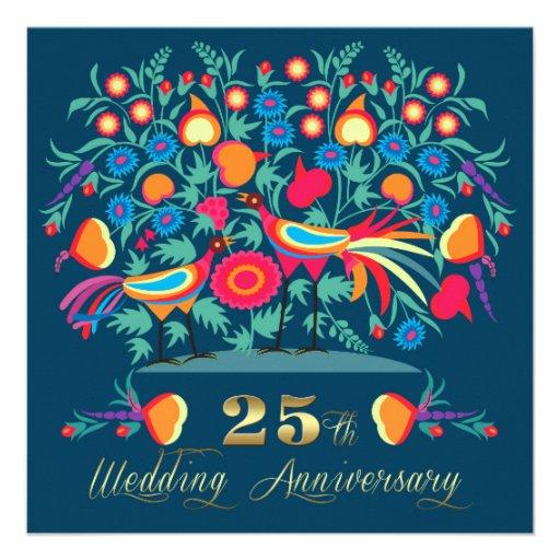 25to Invitaciones de la fiesta de aniversario del  Invitacion Personalizada
