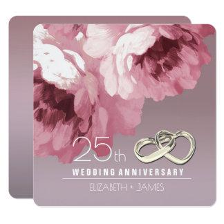 25to Invitaciones de la fiesta de aniversario del Invitación 13,3 Cm X 13,3cm