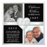 25to Invitaciones de la foto de los corazones del Anuncio Personalizado