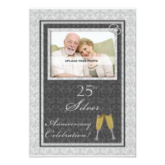 25to Invitaciones de la foto del aniversario de Invitación 12,7 X 17,8 Cm