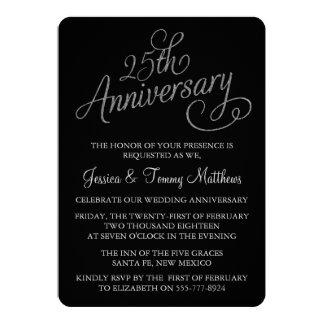 25to Invitaciones del aniversario de bodas de