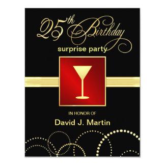 25to Invitaciones del fiesta de sorpresa del Invitación 10,8 X 13,9 Cm