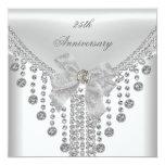 25to Joya de plata blanca del arco de la capa del Invitaciones Personalizada