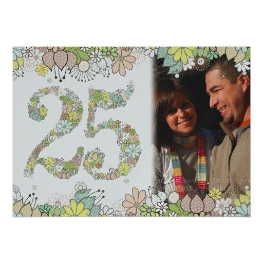 25to La foto del aniversario de bodas de plata inv Comunicados Personalizados
