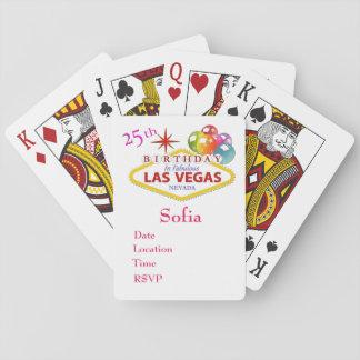 25to Naipes del cumpleaños de Las Vegas
