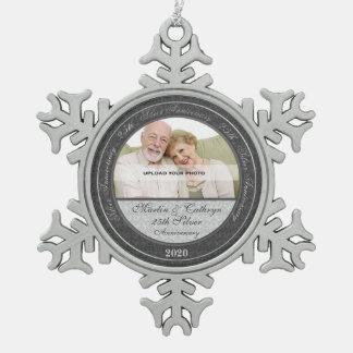 25to Ornamento de la foto de Annivsersary el | de Adornos