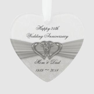 25to ornamento del acrílico del aniversario de